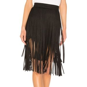 MOTHER - The Fringe Faux Suede Skirt
